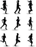 Biegacz sylwetka Obrazy Stock