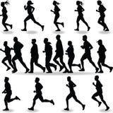 Biegacz sylwetka Zdjęcie Royalty Free