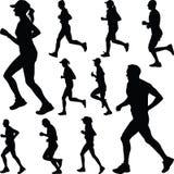 Biegacz sylwetka joggle Obrazy Royalty Free