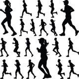 Biegacz sylwetka joggle Fotografia Royalty Free