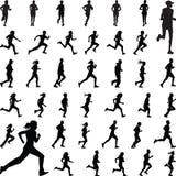 Biegacz sylwetki wektor Fotografia Stock