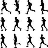 Biegacz sylwetki wektor Zdjęcia Stock