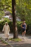 Biegacz w Berlin Fotografia Stock