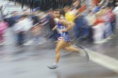 Biegacz w NY miasta maratonie, Brooklyn, NY Obrazy Stock