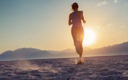 Biegacz w pustyni Zdjęcia Royalty Free
