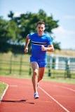 Biegacza biec sprintem Fotografia Royalty Free