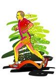 biegacza serii sport Zdjęcia Stock