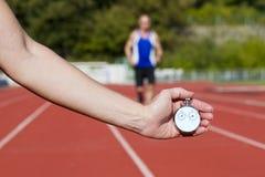 biegacza stopwatch Zdjęcie Stock