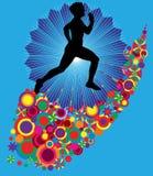 biegacza wektor Obrazy Royalty Free