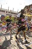 Biegacze biorący udział w wspominania rasie Zdjęcia Royalty Free