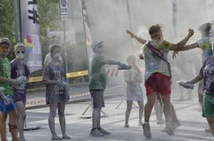 Biegacze i personel koloru bieg Rimini Zdjęcie Stock
