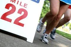 biegacze maratonów Obrazy Royalty Free