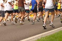 biegacze maratonów Obraz Stock