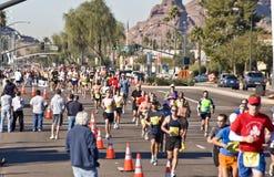 biegacze maratonów Fotografia Stock