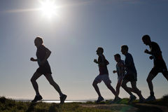 Biegacze, maraton Obraz Stock