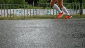 Biegacze podczas maratonu podczas gdy ja pada zbiory wideo