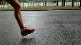 Biegacze podczas maratonu podczas gdy ja pada zbiory
