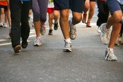 Biegacze przy rasą Zdjęcia Stock