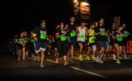 Biegacze przy zaczynać linią Fotografia Stock