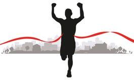 Biegacze w polu Obrazy Royalty Free