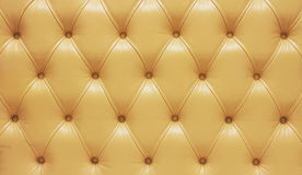 Biege genuine leather upholstery Stock Images