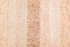 Biege wełny dziewiarska tekstura Fotografia Stock