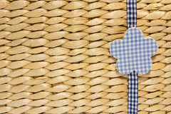 Biege starw braided background Stock Photo