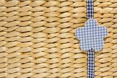 Biege-starw umsponnener Hintergrund Stockfoto