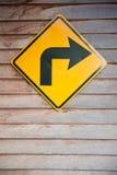 Biegen bitte Zeichen nach rechts ab Stockbild