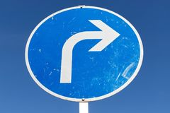 biegen Sie voran nach rechts ab stockfoto