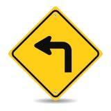 Biegen Verkehrszeichen nach links ab Lizenzfreie Stockfotos