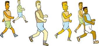 biegnij barwy drużyny Zdjęcie Royalty Free