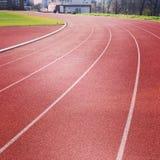 biegnij czerwony ślad Fotografia Royalty Free