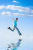 biegnij do nieba Zdjęcie Royalty Free