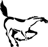 biegnij konia Obraz Stock