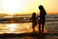 biegnij na plażę Obrazy Royalty Free