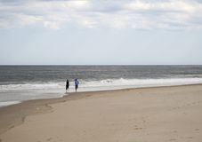 biegnij na plaży Obraz Stock