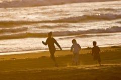 biegnij na plaży Fotografia Stock