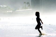 biegnij na plaży Zdjęcie Royalty Free