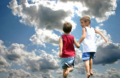 biegnij niebo Zdjęcia Royalty Free