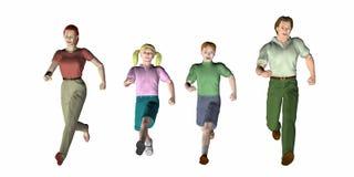 biegnij rodziny ilustracji