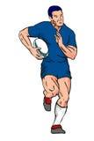 biegnij zawodnika rugby Zdjęcia Stock