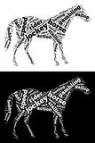 Biegowe Końskie grafika Obrazy Royalty Free