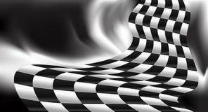 Biegowego tła w kratkę chorągwiany wektorowy projekt Zdjęcia Stock