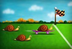 biegowy ślimaczek Zdjęcie Royalty Free