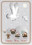 Biegun Północny pocztówka Fotografia Royalty Free