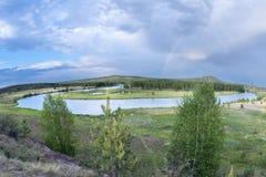 Biegung des Flusses Stockfotografie