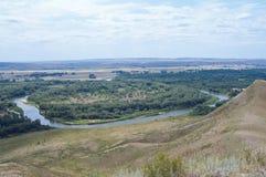 Biegung des Flusses, die Ansicht von der Spitze Stockbild