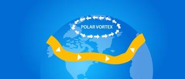 Biegunowej vortex ilustracyjnej kuli ziemskiej wiatrowy kierunek Zdjęcie Royalty Free