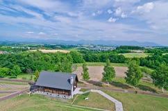 Biei Landschaft, Hokkaido, Japan Lizenzfreies Stockfoto